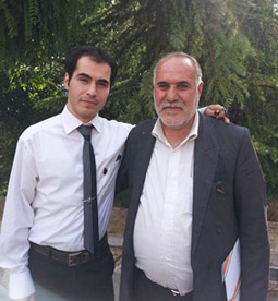 Hossein and dad