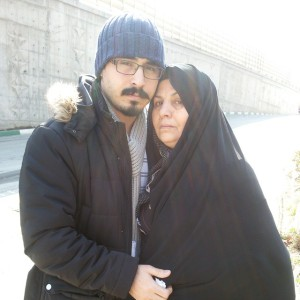 Hossein Ronaghi & mother